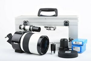 EXC+++ MEADE D=90 1000mm f/11 MIRROR LENS/SPOTTING SCOPE w/CASE, MANUAL +ACCESS.