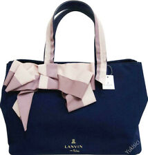 LANVIN en Bleu Japan Ltd Marianne Ribbon Tote Bag-Navy & Pink-NWT