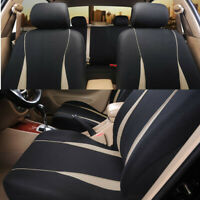 Polyester Seat Protector Cover Black/Beige Interior Accessories Kits Fit For Car
