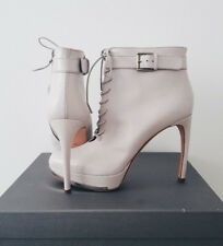 Alexander McQueen Lace-up Leather High Heel Ankle Boots