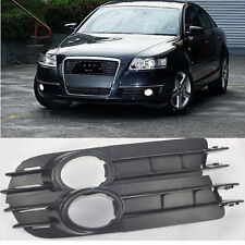 4F0807681A Pair Fog Light Grill ABS Plastic For 06 07 08 Audi A6 C6 A6L NS New