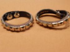 New 2 Pink Metal Pyramid Studs Bracelets Cuffs Wristbands Punk Psychobilly Vegan