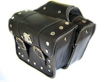 Motobike Motorcycle Luggage Studded Waterproof Faux Leather Panniers Saddlebags