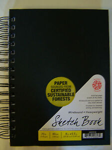 "Pentalic Cloth Covered Wire Bound Sketch Book 8""x5.5"" PTL-020701"