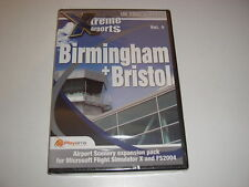 XTREME aeroporti Birmingham + Bristol PC Add-On Flight Simulator X 2004 FSX NUOVO