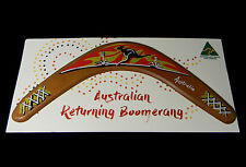 "12"" Australian Made Returning Boomerang Australia Flying Kangaroo Sunset"
