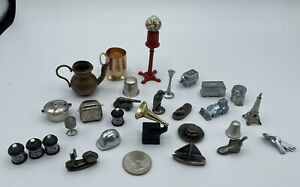 LOT Monopoly DOLLHOUSE Metal Tokens, VINTAGE & Modern Specialty!