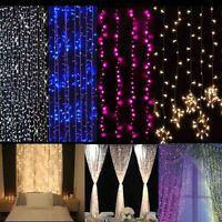 3Mx3M 300LED String Fairy Curtain Lights Outdoor Christmas Wedding Party Decor