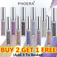 Fashion NEW 10 Color PHOERA Magnificent Metals Glitter and Glow Liquid Eyeshadow