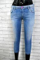 ARMANI JEANS Jeans Corto Donna Pantalone Blu Taglia 40 Pants Woman Slim Bermuda
