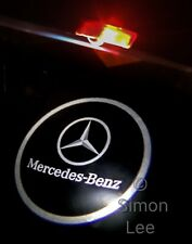 2 LED Mercedes Benz LOGO PROJECTOR Car Door Courtesy Puddle Lights A Class