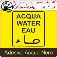 Adesivo Acqua Nero su Sfondo Trasparente cm. 10x11 - 000188 by Colorkit
