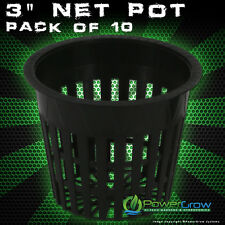 "3"" INCH NET POTS - MESH CUPS (QTY 10) Heavy Duty Net Pots"