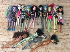 Lot Of 17 Monster High Dolls - Played With & Need TLC - Draculara & More (BinT)