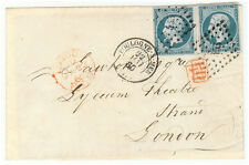 France cover - 1860 Boulogne to London (UK)