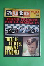 AUTO ITALIANA 27/1968 GP D'OLANDA GP D'ITALIA JONATHAN WILLIAMS BOLOGNA-RATICOSA