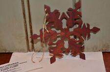 Paduak Wood Snowflake Christmas Rustic Tree Hanging Ornament Decor Wooden