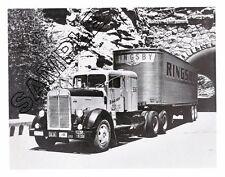 RINGSBY TRUCK LINES 1952 KENWORTH Conventional/Sleeper Box 8x10 B&W GLOSSY PHOTO
