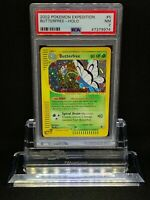 Pokemon Butterfree 5/165 Holo Rare Expedition PSA 7 Near Mint