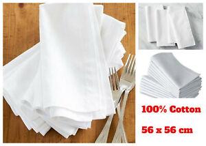 24x Cotton Napkins Lightweight 100% Soft Cloth Napkin Dining Table Hotel Quality
