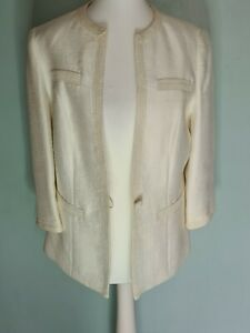 Jaques vert cream  jacket size 14