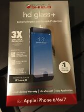 Zagg Invisible Shield Hd Glass Screen Protector For iPhone 8/7/6s/6 New Sealed