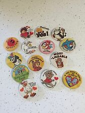 """Vintage lot of 14 Pinback Buttons badge-a-minit 2"""" GUC"""