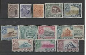 CYPRUS , 1955, SG173/185 TYPES 39.42 & 49 , MH   CV £35.00+