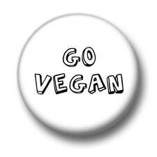 Go Vegan 1 Inch / 25mm Pin Button Badge Vegetarian Vegetables Herbivore No Meat