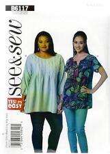 Patron de couture BUTTERICK See & Sew femmes'Haut coupe large XSM - XXL b6117
