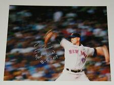 Tom Glavine Signed Auto 11x14 Photo w/300th Win 8/5/07 - Mets Braves HOF