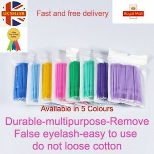 100 Disposable Lash Eyelash Micro Brush Mascara Wands Applicator Makeup Tool