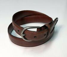 "COACH 5980 Glove Tanned Cowhide Solid Brass Buckle / Brass Tip Belt - Sz. 36"""