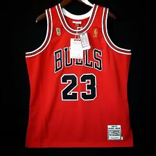 100% Authentic Michael Jordan Mitchell Ness 96 97 Finals Bulls Jersey Size 48 XL