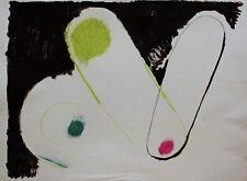 """Walter FUSI """"Senza Titolo"""" Olio e Tecnica Mista su Carta cm. 75,5X56 anno 1979"""