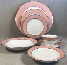 PV02570 Sango Japan Pink & Platinum RHAPSODY Dinnerware- CHOICE