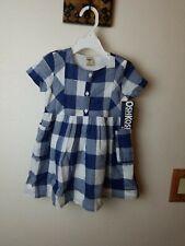Oshkosh Girls Dress Size 3T Plaid Blue White And Silver...