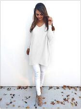 UK Women Loose Long Sleeve Sweater Ladies Sweatshirt Jumper Pullover Tops Blouse