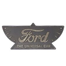 Ford Auto Cast Iron Plaque Sign Decor Automotive Garage Shop Man Cave Antique