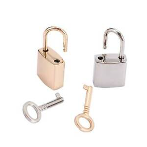Jewelry Box Diary Book Decor Mini Archaize Metal Padlocks Key Lock With key L