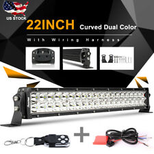 "8D+ 22Inch 480W Curved Led Light Bar Spot Flood Offroad 4WD Driving Lamp 24"" 20"""