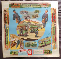 1950S AUSTRALIAN BUS & TRAM CONDUCTOR STONE LITHOGRAPH ART POSTER LINDSAYS NM!!