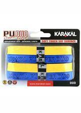 Karakal Pu Duo Super Grip, pack of 2 Blue & Yellow