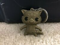 Marvel Gold Rocket Raccoon Gold Figural Rubber Key Chain