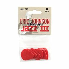 Jim Dunlop 47PEJ3N Eric Johnson Classic Jazz III Players Guitar Picks Pack of