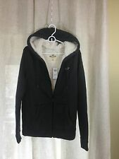 Hollister New Authentic Men's Sherpa Lined GRAY Hoodie (MEDIUM)