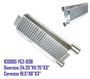 """EMUSA 2.5"""" Inlet & Outlet One Side Intercooler 24""""X11""""X3"""" IC0005 YCZ-038"""