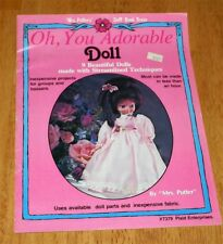 Plaid - Oh, You Adorable Doll - 9 Beautiful Dolls Book #7379 Guc Sewing vintage