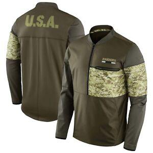 New Oakland Raiders Nike Salute To Service STS Sideline Hybrid 1/2 Zip Jacket