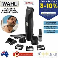 Wahl Beard Hair Clipper Shaver Cordless Electric Trimmer Nose Ear Mens Grooming